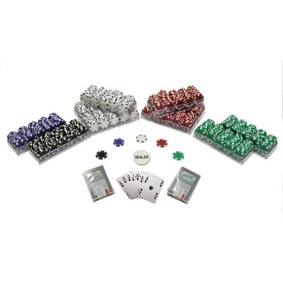 Striped Dice Poker Chips Texas Hold Em Set