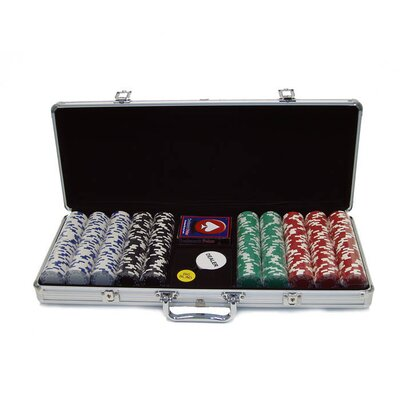 Trademark Global 500 Royal Suited Chips with Aluminum Case