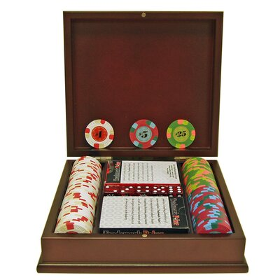 Paulson Top Hat and Cane Clay Poker Chips with Wooden Case
