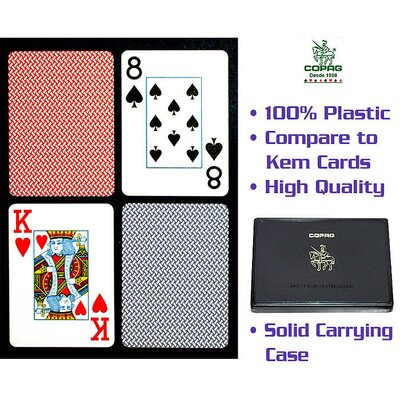 Trademark Global Copagt Poker Size Jumbo Index Blue/Red Export Setup