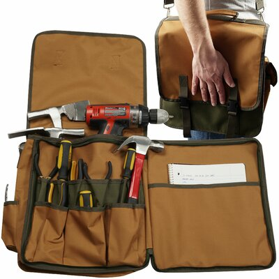 Rugged Nylon Tool Tote with Shoulder Strap