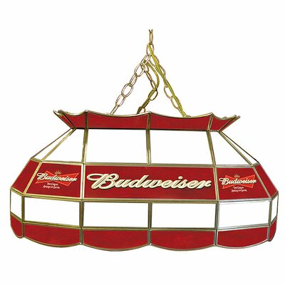 "Trademark Global Budweiser 28"" Stained Glass Pool Table Lamp"