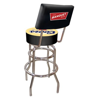 Trademark Global Coors Banquet Padded Bar Stool with Back