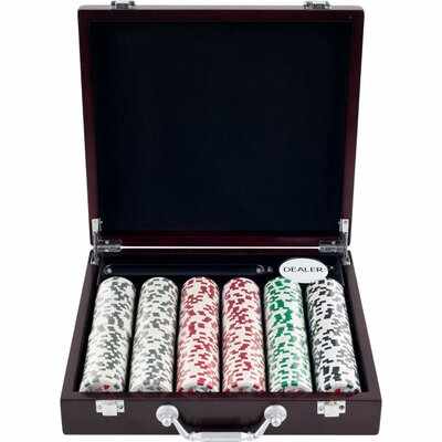 4 Aces Poker Chip in Cigar Tray Case