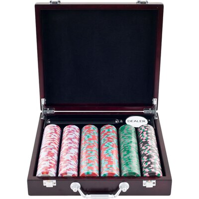 Trademark Global NexGen Pro Poker Chips in Cigar Tray Case