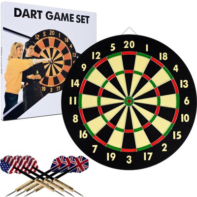 Trademark Global TGT Dart Game Set with 6 Darts and Board