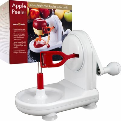 Trademark Global Extraordinary Apple Peeler -  Peels in Seconds