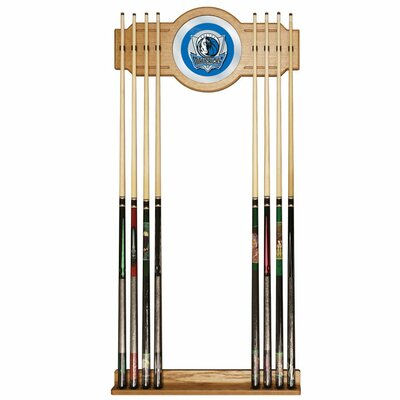 Trademark Global NBA Billiard Cue Rack with Mirror