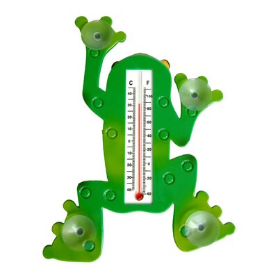 Trademark Global Frog Window Thermometer