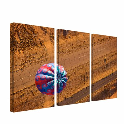 Trademark Global Cracked Highway by Aiana 3 Piece Photographic Print on Canvas Set