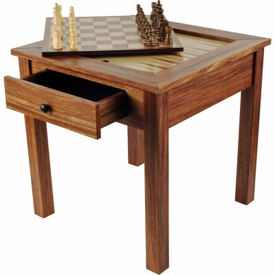 Trademark Global Chess & Games Wood 3 in 1 Multi Game Table