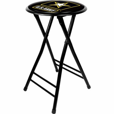 "Trademark Global U.S Army 24"" Cushioned Folding Stool"