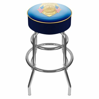"Trademark Global 31"" Police Officer Padded Swivel Bar Stool"