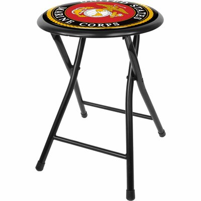 "Trademark Global United States Marine Corps 18"" Folding Stool"