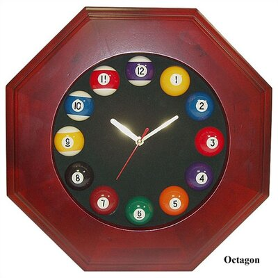 Trademark Global Geometric Shape Pool Quartz Clock