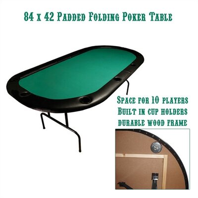 "Trademark Global 84"" x 42"" Texas Hold'em Poker Padded Folding Table"