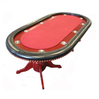 "Trademark Global 90"" Texas Hold'em Poker Table With Raceway"