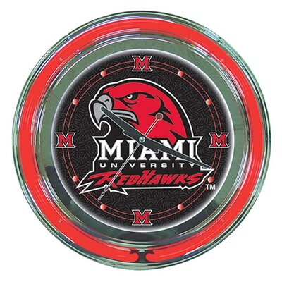"Trademark Global NCAA 14"" Neon Clock"