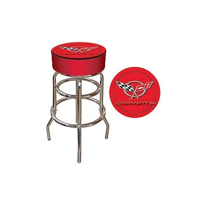 Corvette C5 Padded Bar Stool in Red