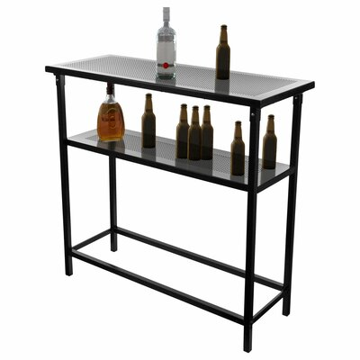 Trademark Global NHL Pittsburgh Penguins 2 Shelf Portable Bar with Case