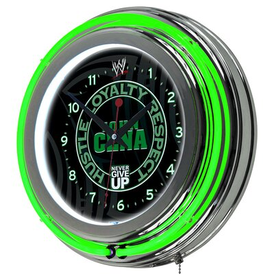 Trademark Global WWE Neon Clock