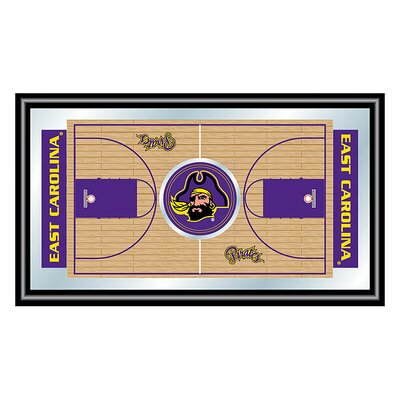 NCAA Framed Basketball Court Mirror