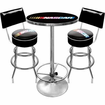Trademark Global NASCAR Gameroom 3 Piece Pub Table Set