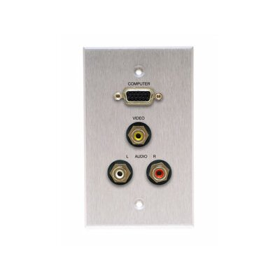 Comprehensive Single Gang Wall Plate (HD15, 3RCA Passthru)