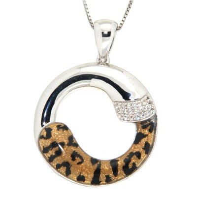 Pearlz Ocean Enamel Print Animal Sterling Silver Topaz Necklace