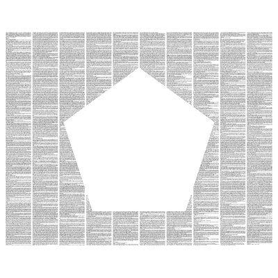 Postertext Flatland: A Romance of Many Dimensions Wall Art