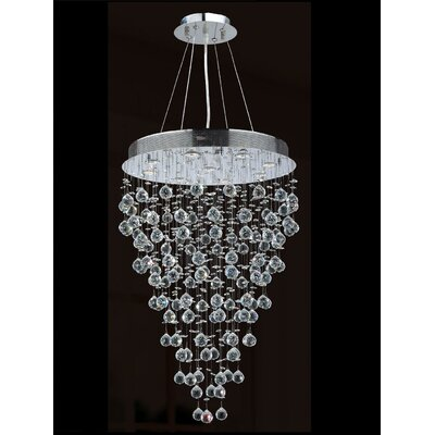 Worldwide Lighting Icicle 9 Light Chandelier