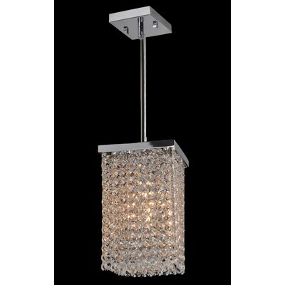 Worldwide Lighting Prism 1  Light Chandelier
