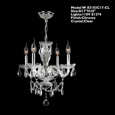 Provence 4 Light Crystal Chandelier