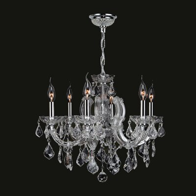 Catherine 6 Light Crystal Chandelier