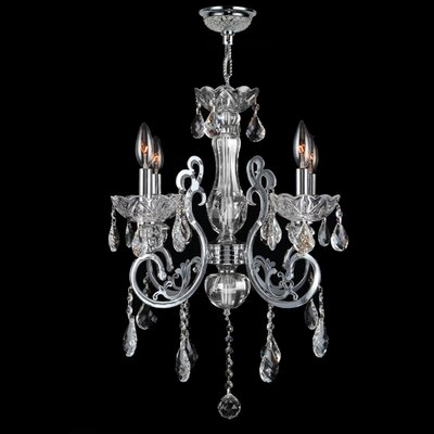 Kronos 4 Light Crystal Chandelier