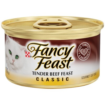 Fancy Feast Classic Tender Beef Wet Cat Food (3-oz can,case of 24)