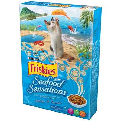 Friskies Seafood Sensations Dry Cat Food (Case of 12)