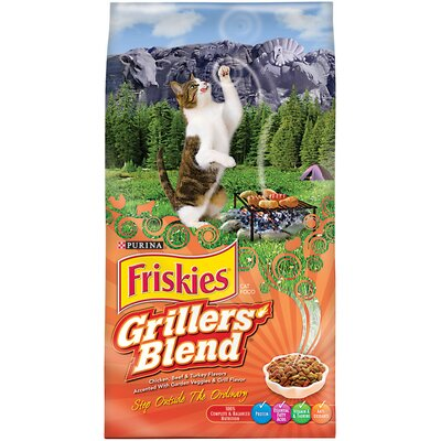Friskies Grillers' Blend Dry Cat Food (16-lb bag)