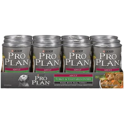 Pro Plan Adult Turkey and Vegetables Entree Dog Food (13-oz, case of 12)