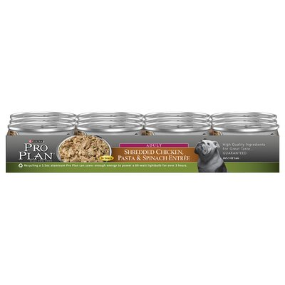 Adult Shredded Chicken Pasta and Spinach Entree Dog Food (5.5-oz, case of 24)