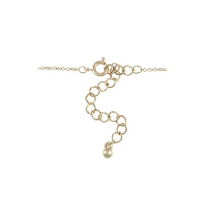 Zirconmania Gold Tone Gothic Cross 'Faith' Charm Necklace