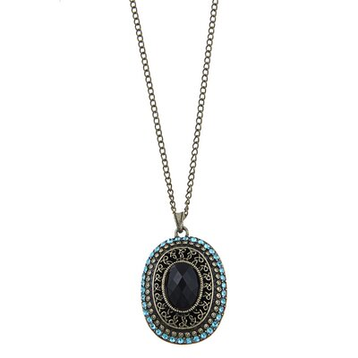 Antique Oval Pendant Necklace