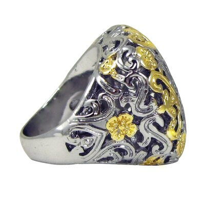 Trendbox Jewelry Two-tone Antique Filligree Cocktail Ring