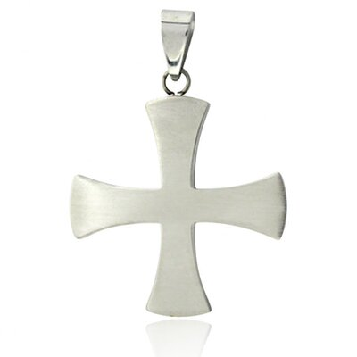 Plain Front Iron Cross Necklace
