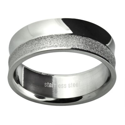 Men's Polished and Diamond Cut Textured Wedding Band Ring