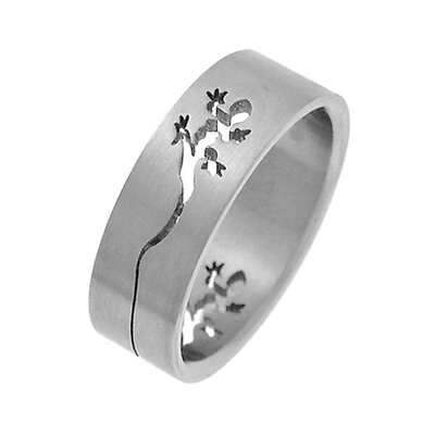 Trendbox Jewelry Band Ring with Cut-Out Lizard Design