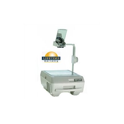 Buhl Portable Open Head Double Lens Overhead Projector (3000 lumens) with Fold Down Arm and Lamp Changer