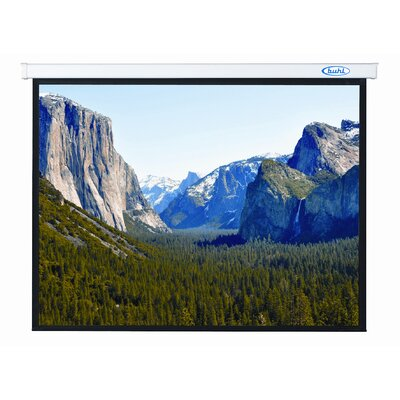 "Buhl Innsbruck Matte White 136"" Electric Projector Screen"