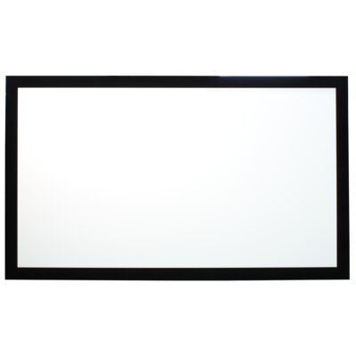 "Buhl Viewable Matte White 100"" Fixed Frame Projector Screen"