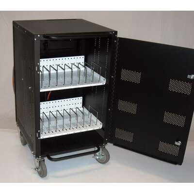 Buhl 16-Compartment Laptop and Netbook Charging and Storage Cart